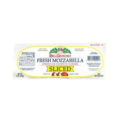 Belgioioso Fresh Mozzarella Sliced Log 8oz 226g