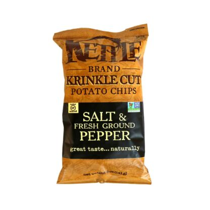 Kettle Chips Krinkle Cut Salt & Fresh Ground Pepper 141g