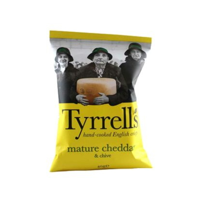 Tyrell's Mature Cheddar Chive 40g