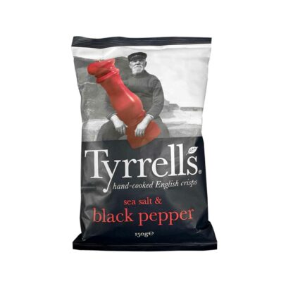 Tyrell's Sea Salted Cracked Black Pepper 150g