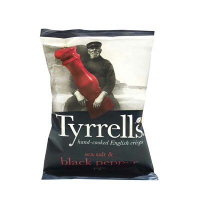 Tyrell's Sea Salted Cracked Black Pepper 40g