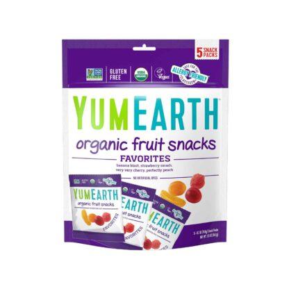 YumEarth Fruit Snacks 5 packs 99.2g