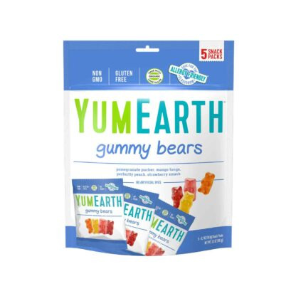 YumEarth Gummy Bears 5 packs 99.2g