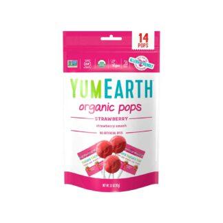 YumEarth Strawberry Smash Organic Lollipops 87g