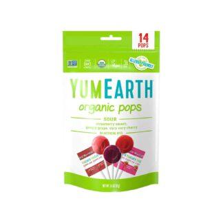YumEarth Super Sour Organic Lollipop 87g