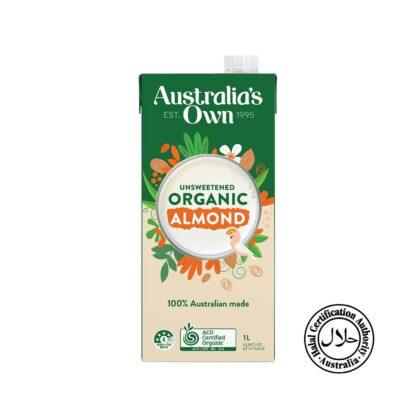 Australia's Own Organic Almond Milk Unsweetened 1L