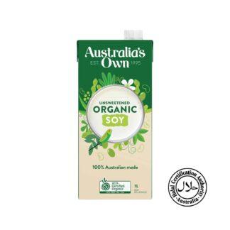 Australia's Own Organic Soy Milk Unsweetened 1L