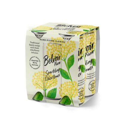 Belvoir Raspberry Lemonade Can 4pack