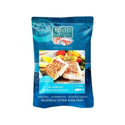Food for Friends Wild Caught Seafood Alaskan Pollock Fillet Garlic Herb Butter