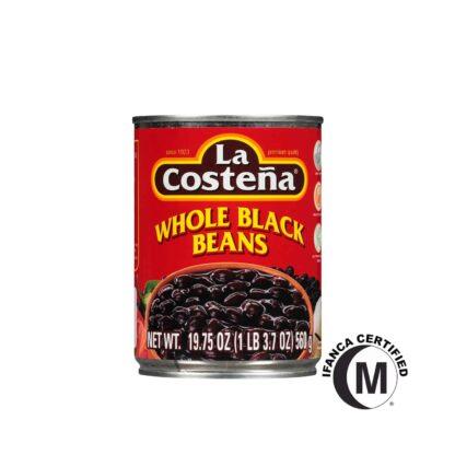 La Costena Whole Black Beans in Can 560g