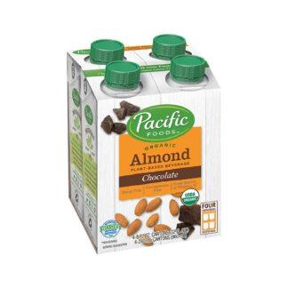 Pacific Foods Organic Almond Chocolate Single Serve x4 960mL