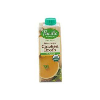 Pacific Foods Organic Free Range Chicken Broth Low Sodium 240ml