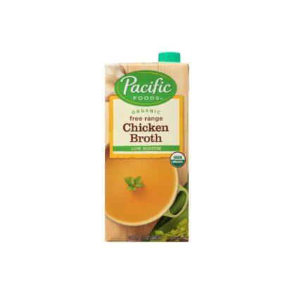 Pacific Foods Organic Free Range Chicken Broth Low Sodium 946ml