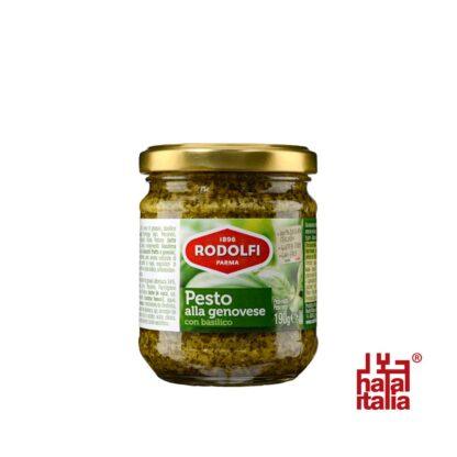 Rodolfi Pesto Verde Alla Genovese con Basilico, Green Pesto 190g