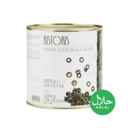 Ristoris Round Sliced Black Olives 2600g