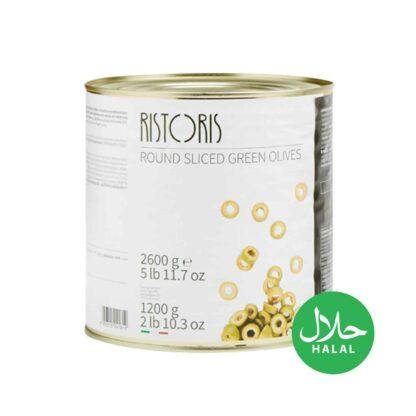 Ristoris Round Sliced Green Olives 2600g