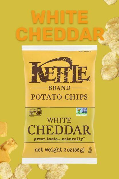 Kettle Brand Potato Chips White Cheddar